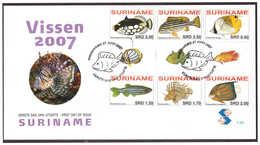 Surinam / Suriname 2007 FDC 305 BP Vissen Fishes Fischen Poisson Gutterpair - Suriname