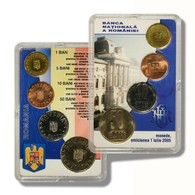 Romania Official National Bank 4 Coin Set 1, 5, 10, 50 Bani 2005 BU Case - Rumania