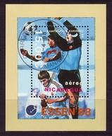NICARAGUA 1988, European Football S/s  Mi. B 178 - Yv. 184 Serie Cpl. 1 BF Usato - Laos