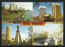 United Arab Emirates Abu Dhabi 4 Scene Abu Dhabi Picture Postcard View Card U A E - Dubai