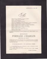 ANDENNE XHIERFOMONT RAHIER Fernand CHARLES 1856-1928 Docteur En Droit Familles JAMAR Et NAVEAU - Obituary Notices
