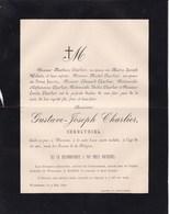 WAREMME Gustave-Joseph CHARLIER Industriel 32 Ans 1890 Familles JOURET Faire-part Mortuaire - Obituary Notices