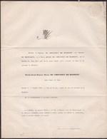 DONCEEL REMICOURT Nicolas De CHESTRET De HANEFFE 52 Ans 1856 De MOFFARTS Obsèques à CADIER BLANKENBERG - Obituary Notices