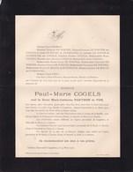 ANVERS KAPPELLEN Paul COGELS Veuf PARTHON De VON 1845 - 1912 Château STARRENHOF DE WINTER - Obituary Notices