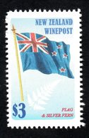 New  Zealand Wine Post Flag And Fern - Unclassified
