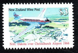 New  Zealand Wine Post Dakota Over Christchurch Airport. - Unclassified