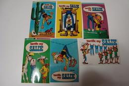 Salik : 6 Autocollants Lucky Luke - 6 Stickers Lucky Luke - Autocollants