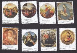 Uganda, Scott #1280-1287, Mint Hinged, Christmas, Issued 1994 - Oeganda (1962-...)