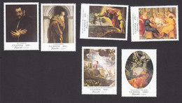 Uganda, Scott #1290-1295, Mint Hinged, Paintings, Issued 1995 - Uganda (1962-...)