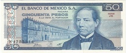 México 50 Pesos 27-1-1981 Pick 73 JB UNC - México