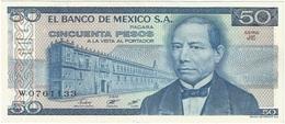 México 50 Pesos 27-1-1981 Pick 73 JE-JF UNC - México