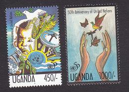 Uganda, Scott #1306-1307, Mint Hinged, UN, Issued 1995 - Uganda (1962-...)
