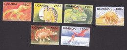 Uganda, Scott #1319-1324, Mint Hinged, Dinosaurs, Issued 1995 - Uganda (1962-...)