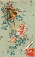 Enfant Illustré 405, Elfe Cloche Myosotis Paillettes, Gaufré Embossed - Scenes & Landscapes