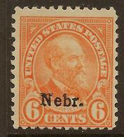 USA 1929 6c Nebr. SG 672 HM #AJU221 - United States