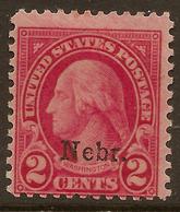 USA 1929 2c Nebr. SG 668 HM #AJU214 - United States