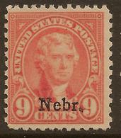 USA 1929 9c Nebr. SG 675 HM #AJU224 - United States