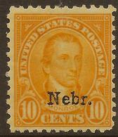 USA 1929 10c Nebr. SG 676 HM #AJU225 - United States