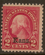 USA 1929 2c Kans. SG 657 HM #AJU181 - United States
