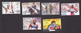 Uganda, Scott #1358-1363, Mint Hinged, Olympics, Issued 1995 - Uganda (1962-...)