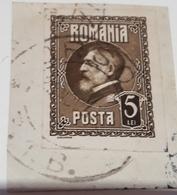 ROMANIA 1926, KING FERDINAND ROMANIA 1926, Mi 299U , IMPERFECT IN PAPER   Cancel  Brasov - Gebraucht