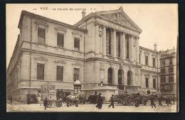 NICE -Le Palais De Justice- Attelages Pour Publicité Spectacles Et Transport  Charbons-Kiosque -Paypal Sans Frais - Monuments, édifices