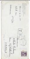 1964 Italy To Israel Taxed Postcard Rome Colosseum - Portomarken