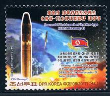 North Korea 2017 Rocket-15 Intercontinental Missile Launch Successful Flag Map (discount Item) - Korea, North