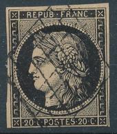N°3 GRILLE 1849 VARIETE FILETS COUPES 1er CHOIX - 1849-1850 Cérès