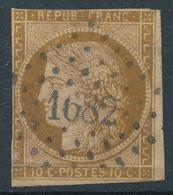 N°1 BRUN FONCE LOSANGE PETITS CHIFFRES. - 1849-1850 Cérès