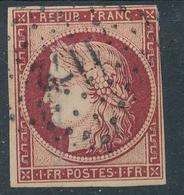 N°6 CARMIN FONCE LOSANGE PETITS CHIFFRES. - 1849-1850 Ceres