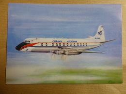 AIRLINE ISSUE / CARTE COMPAGNIE   CUBANA AVIACION  VISCOUNT - 1946-....: Ere Moderne
