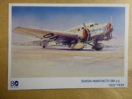 AIRLINE ISSUE / CARTE COMPAGNIE   CSA CZECH AIRLINES  SAVOIA MARCHETTI SM 73 - 1946-....: Era Moderna