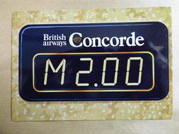 AIRLINE ISSUE / CARTE COMPAGNIE   BRITISH AIRWAYS  CONCORDE - 1946-....: Era Moderna