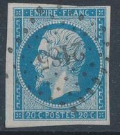 N°14  NUANCE ET OBLITERATION.BELLE FRAPPE. - 1853-1860 Napoleon III