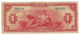 Curacao, 1 Gulden 1942, F/VF. - Netherlands Antilles (...-1986)