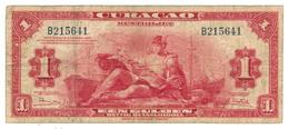 Curacao, 1 Gulden 1947, F, Rare. - Netherlands Antilles (...-1986)