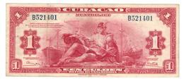 Curacao, 1 Gulden 1947, VF+, RARE. - Netherlands Antilles (...-1986)