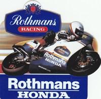 AUTOCOLLANT.. ROTHMANS RACING   HONDA - Stickers