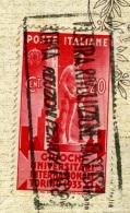 GIUOCHI UNIVERSITARI INTERNAZIONALI TORINO1933 Cent. 20  Annullo A Targhetta Su Cartolina - 1900-44 Vittorio Emanuele III
