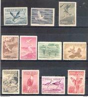 575  Oiseaux - 1956 - Yv A 135-45 - MNH - 17,75 - Cuba