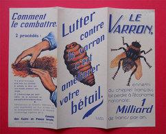 Publicité Combattre Le Varron Plaquette Illustrée édit Comité Des Cuirs Et Peaux Bruts R Le Begue Dessin - Publicités