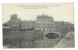 35/ ILLE Et VILAINE...RENNES. Gare Des Tramways Départementaux. Croix De La Mission. Vue Générale Prise Du Quai De La Pr - Rennes
