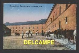 DD / CASERNE FOCH À GERMERSHEIM EN RHÉNANIE-PALATINAT / ALLEMAGNE / CIRCULÉE EN 1927 - Barracks