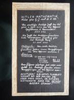 WWII WW2 Tract Flugblatt Propaganda Leaflet In German, PWE G Series/1942, Code G.48, HITLER-MATHEMATIK - Non Classés