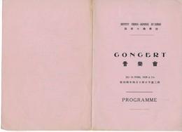 Programme Concert 14/4/1929 De L'Institut Franco-Japonais Du KANSAI (créé Par Paul CLAUDEL En 1927) - Programs