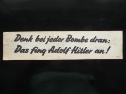 WWII WW2 Tract Flugblatt Propaganda Leaflet In German, PWE G Series/1942, Code G.56 Denk Bei Jeder Bombe Dran:  (Göring) - Non Classés