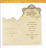 Od 650 - MENU 1909 - 13 ME ANNIVERSAIRE DE MARIAGE - Menus
