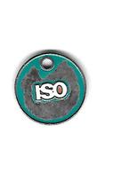 Jeton De Caddie   ISO, Organisation Internationale De Normalisation. ( Utilisé ) - Trolley Token/Shopping Trolley Chip