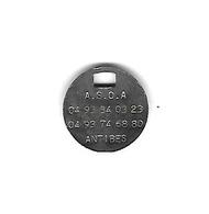 Jeton De Caddie  Argenté  Ville,  A.S.O.A.  ANTIBES ( 06 )  Avenir Sportif Ouvrier Antibois Sports, Loisirs, Culture. - Trolley Token/Shopping Trolley Chip